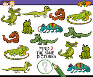 Finden Sie die gleiche Bildspielkarikatur Lizenzfreies Stockbild