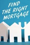 Finden Sie die rechte Hypothek lizenzfreies stockfoto