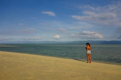 Finden Sie einen Platz, um verloren herein zu erhalten, Manjuyod-Sandbank, Dumaguete Lizenzfreies Stockfoto