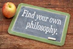 Finden Sie Ihre eigene Philosophie auf Tafel Lizenzfreie Stockbilder