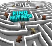 Finden Sie Ihre Methode zum Glück Lizenzfreie Stockfotos