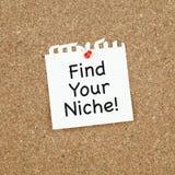 Finden Sie Ihre Nische Stockfotos