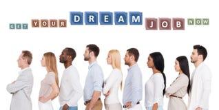 Finden Sie Ihren Traumjob! Stockbild