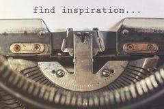 Finden Sie Inspirationsmotivmitteilung Lizenzfreies Stockbild