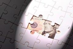 Finden Sie Reichtum vom Puzzlespielspiel heraus Lizenzfreies Stockbild