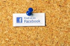 Finden Sie uns auf Facebook Lizenzfreies Stockfoto