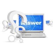 Finden von Antworten lizenzfreie stockfotos