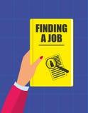 Finden von Job Book Lizenzfreie Stockfotografie