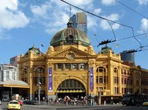 Finders Train Station. In Melbourne City Australia Royalty Free Stock Photos