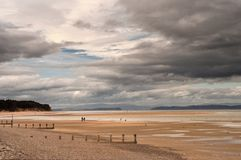 Findhorn Beach Huts Royalty Free Stock Photo