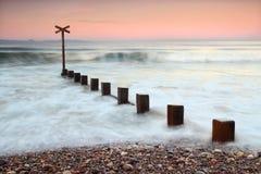 findhorn moray ηλιοβασίλεμα της Σκωτίας Στοκ Εικόνες