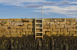 Findhorn, steps to the shore. Royalty Free Stock Photography