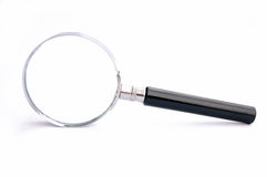 Finding. Magnifying Glass - on white background,with path Royalty Free Stock Images
