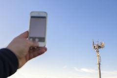 Finding any mobile phone coverage Royalty Free Stock Photo