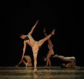 Finding balance-Black angel-Modern dance-choreographer henry yu Stock Images