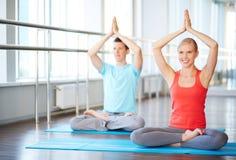 Finding balance with yoga Stock Image