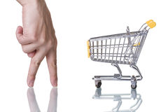 Finding the best shopping deal Stock Photos
