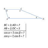 Finding cosines trapeze Stock Images