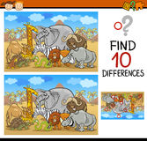 Finding differences game cartoon Stock Photography