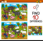 Finding differences game cartoon Stock Photo