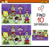 Finding differences game cartoon Stock Photos