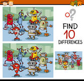 Finding differences game cartoon Royalty Free Stock Images