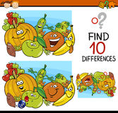 Finding differences game cartoon Royalty Free Stock Photo