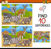 Finding differences game cartoon Stock Images