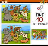 Finding differences game cartoon Royalty Free Stock Photography