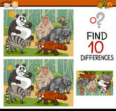 Finding differences game cartoon Royalty Free Stock Image