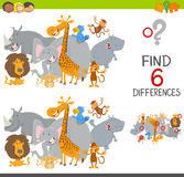 Finding differences game for kids Stock Image