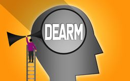 Finding dream within human head. 3D rendering vector illustration