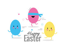 Finding easter eggs. Flat design elements and character. abstract vector illustration Stock Photography