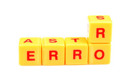 Finding error. Concept image of error on white background royalty free stock photos