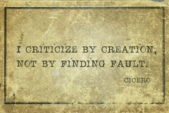 Finding fault Cicero Royalty Free Stock Photo