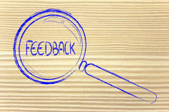 Finding feedback Royalty Free Stock Photography