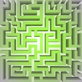 Finding green positive way in maze concept vector Stock Images