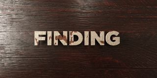 Finding - grungy wooden headline on Maple  - 3D rendered royalty free stock image Royalty Free Stock Photos