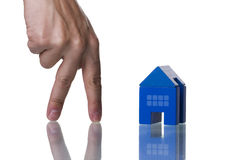 Finding a house Stock Image