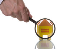 Finding a house royalty free stock images