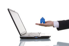 Finding a house royalty free stock photo
