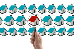 Finding house concept royalty free stock photo