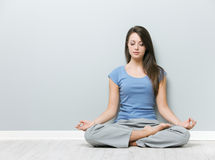 Finding inner tranquility Royalty Free Stock Images