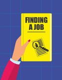 Finding A Job Book Royalty Free Stock Photography