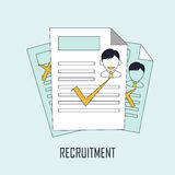 Finding job concept. Recruitment in line style Royalty Free Stock Photography