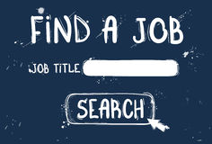 Finding Job Online Recruitment Doodle Hand Draw Sketch Background Stock Photo