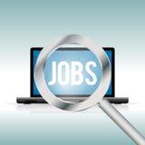 Finding Jobs Online Stock Image