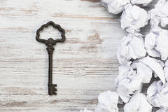 Finding key to success Royalty Free Stock Photo