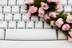 Finding love online Royalty Free Stock Photos