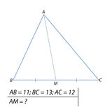 Finding the median of the triangle ABC Stock Image
